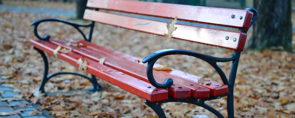 Feeling isolated by your anger and emotions? (Photo of an empty park bench.)